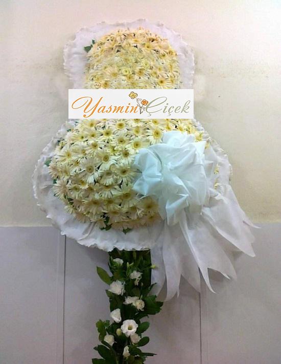 Açılış Düğün Davet Çelenkleri Beyaz