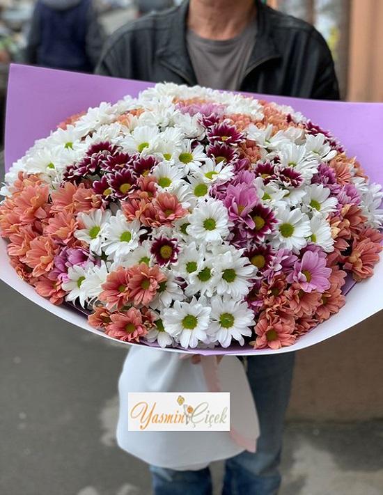 Renkli Kır Çiçeği Buketi