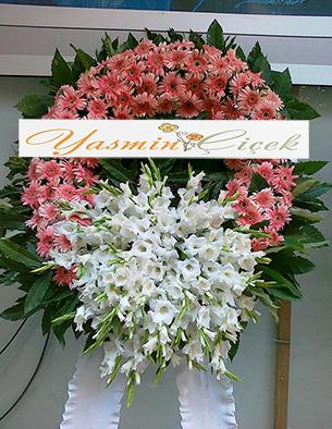 Cenaze Çelengi Pembe Beyaz
