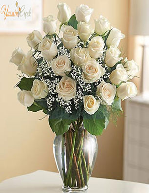 Beyaz Güllerin zarafeti ve samimiyeti