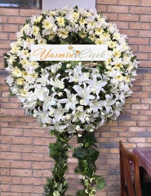 Cenaze Çelengi Beyaz Model