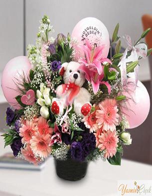 Yeni Doğan Kız Bebek Çiçekleri